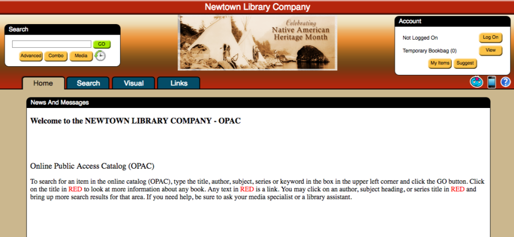 OPAC Home Page