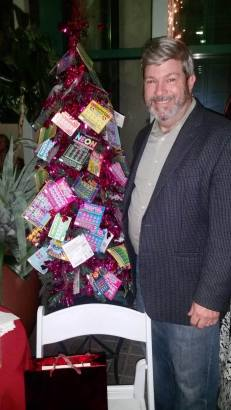 Frank Brassell with the lottery tree