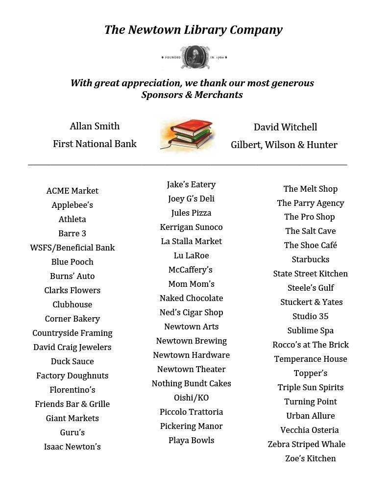 Book Lovers 2020 Sponsors