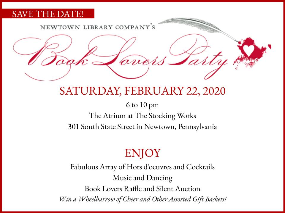 Book Lovers 2020 Save the Date