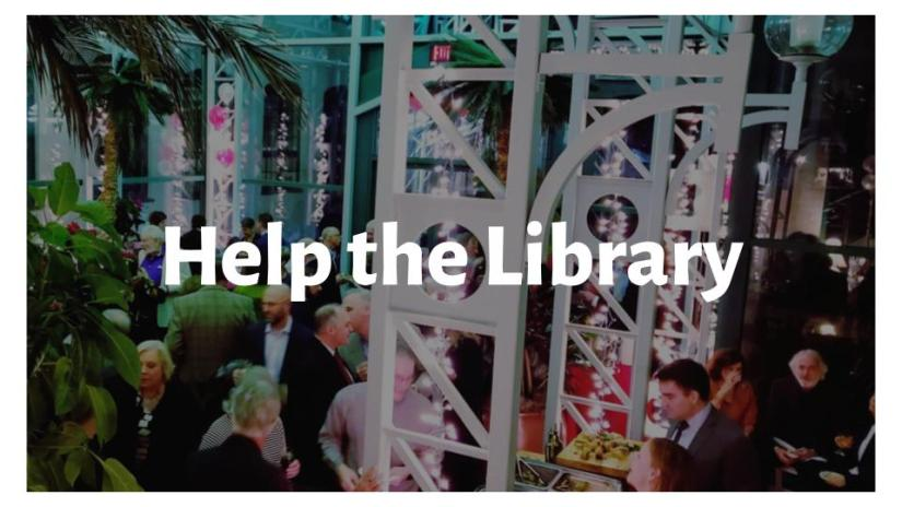 Help the Library: Click here for information about ongoing fundraisers and events.